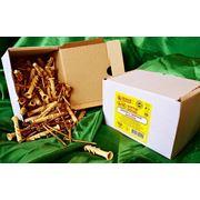 Дюбели WAVE 6х50 mm потай с ударным шурупом в картонной коробке - ISO 9001 фото