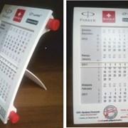 Календарь настольный пластиковый фото