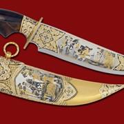 Нож Царская забава - охота на медведей 380*215*45*6 фото