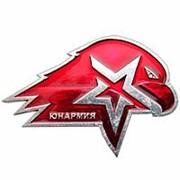"""Знак """"Юнармия"""" с орлом, 2.5 см. фото"""