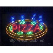 """Светодиодная вывеска """"Pizza"""" фото"""
