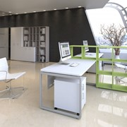 Коллекция мебели для персонала АККОРД (два рабочих места) фото
