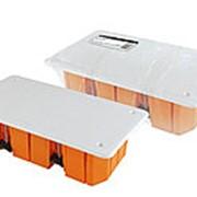 Распаячная коробка СП 172х96х45мм, крышка, пл. лапки, IP20, инд. штрихкод, TDM фото