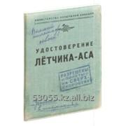 """Обложка для автодокументов """"Удостоверение летчика – аса"""" фото"""