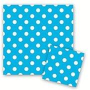 Салфетки Горошек Голубой 33см X 33см фото