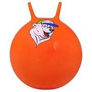 """Мяч-Попрыгун Starfit """"GB-403 """"медвежонок"""" 65 см с рожками, оранжевый фото"""