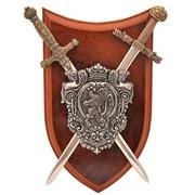 Панно: мини шпага Наполеона и мини меч Карла Великого фото