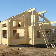 Строительство домов из бруса и бревна фото