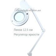 Лампа-лупа с регулировкой яркости (модель 6017 LED на 3 диоптрии) яркая светодиодная фото