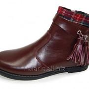 Ботиночки для девочки красные, арт. 1559-256516 фото