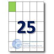 Самоклеящиеся этикетки А4. Этикеток на листе-25. Размер-42x59,4 мм. фото