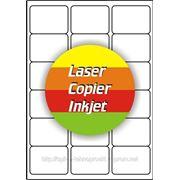 Цветные самоклеящиеся этикетки на формате А4 фото