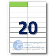 Самоклеящиеся этикетки А4. Этикеток на листе-20. Размер-105x29,7 мм. фото