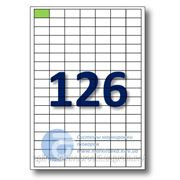 Самоклеящиеся этикетки А4. Этикеток на листе-126. Размер-28x16 мм. фото