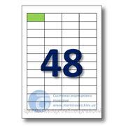 Самоклеящиеся этикетки А4. Этикеток на листе-48. Размер-45,7x21,2 мм. фото