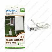 Сетевое Зарядное Устройство LED TRAVEL CHARGER 2.1A 2 USB MICRO фото