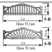 Забор железобетонный декоративный плиты забора 5-В, 6-В фотография