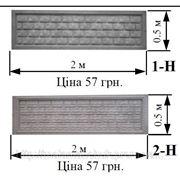 Забор железобетонный декоративный плиты забора 1-Н, 2-Н