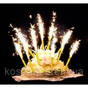 Фейерверк для торта Набор 4шт фото