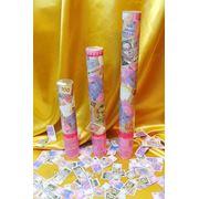 Хлопушки пневматические с сувенирными гривнами длиной 40 см фото