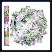 Хлопушка пневматическая с сувенирными Евро 30 см, Харьков фото