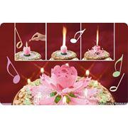 Свеча на торт Фейерверк Музыкальный Лотос фото