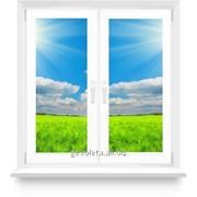 Окно из ПВХ 1000х1400 поворотно-откидное, две створки фото