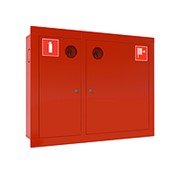 Шкаф пожарный левый ШПК-315 ВЗК красный фото