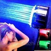 """Светодиодная насадка на душ. Цветной душ """"Радуга"""" S-R8 фото"""