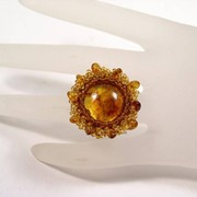 Кольцо из янтаря 50003-aw фото