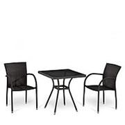 Комплект плетеной мебели T282BNT-W2390/Y282-W52 Brown 2Pcs фото
