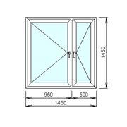 Расчёт цены пластикового окна с двумя створками фото