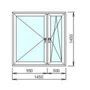 Расчёт цены пластикового окна с механизмом двойного открывания фото