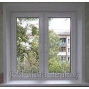 Окно1400*1300 (ПВХ) пластиковое в зал новой планировки