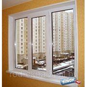 Окно ПВХ 2000*1400 пластиковое в зал новой планировки фото