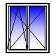 Окно ПВХ двухстворчатое 1350х1400 (панель, п/о+п) фото
