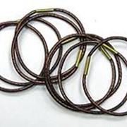 "Резинки ""Dewal"" 043 10шт коричневые блестящие, midi фото"