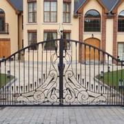 Ворота распашные для коттеджа №45 фото