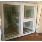 Окна бу деревянный стеклопакет из новостройки с коробкой 1800*1470 фото