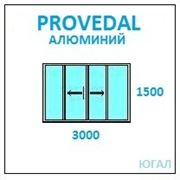 Алюминиевая балконная рама 3000х1500 (ШхВ), две глухие фото