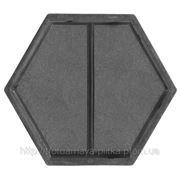 Формы для тротуарной плитки серии Мозаика, Шестигранник половинка поперечная 205х108х45 мм фото