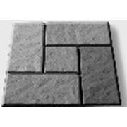 Формы для тротуарной плитки «Калифорния» глянцевые пластиковые АБС ABS фото