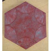 Формы для тротуарной плитки «Шестигранник- Звезда» глянцевые пластиковые АБС ABS фото