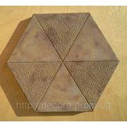 Формы для тротуарной плитки «Шестигранник- Треугольник» глянцевые пластиковые АБС ABS фото