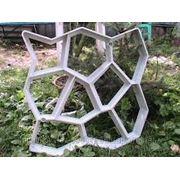 Форма для изготовления садовой дорожки фото