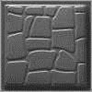 Формы для тротуарной плитки «Колотый камень» глянцевые пластиковые АБС ABS фото