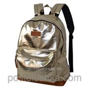 Рюкзак классика кожзам DERBY с карманом для ноутбука 14* Серебро фото