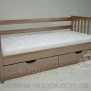 Кровать одноярусная Гармония Brown. Ясень. фото