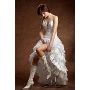 Свадебное платье укороченое № 237 фото