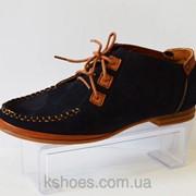 Синие туфли на шнурке Molly Bessa A01 фото